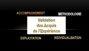 Validation des Acquis et de l'Expérience (VAE)