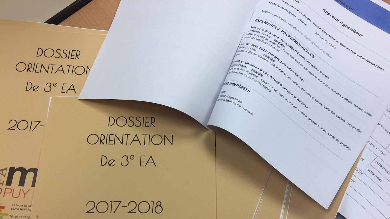 Dossier ORIENTATION Post 3eme CFA MFR Puy-Sec