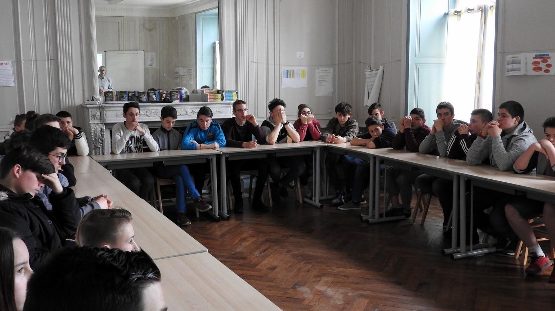 Accueil futurs 4e et 3e Ateliers Partagés CFA MFR Puy-Sec Avril 2018 Présentation CFA MFR de Puy-Sec