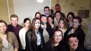Initiation maquillage des CAPa SAPVER pour Marché de Producteurs du 21 Avril 2018 au CFA MFR Puy-Sec