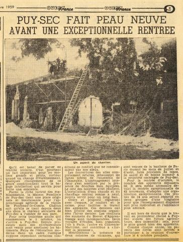 Archives anciens élèves mfr puy-sec 1959 4 rentrées