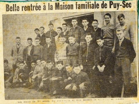 Archives anciens élèves mfr puy-sec 1959 5 rentrées