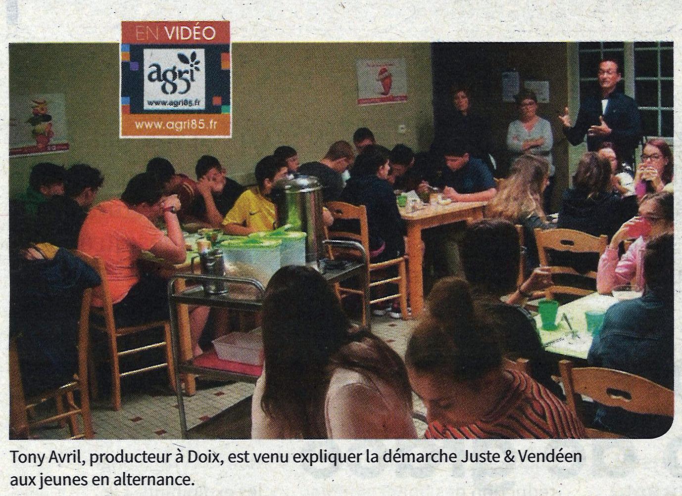 Photo article JusteEtVendée Agri85