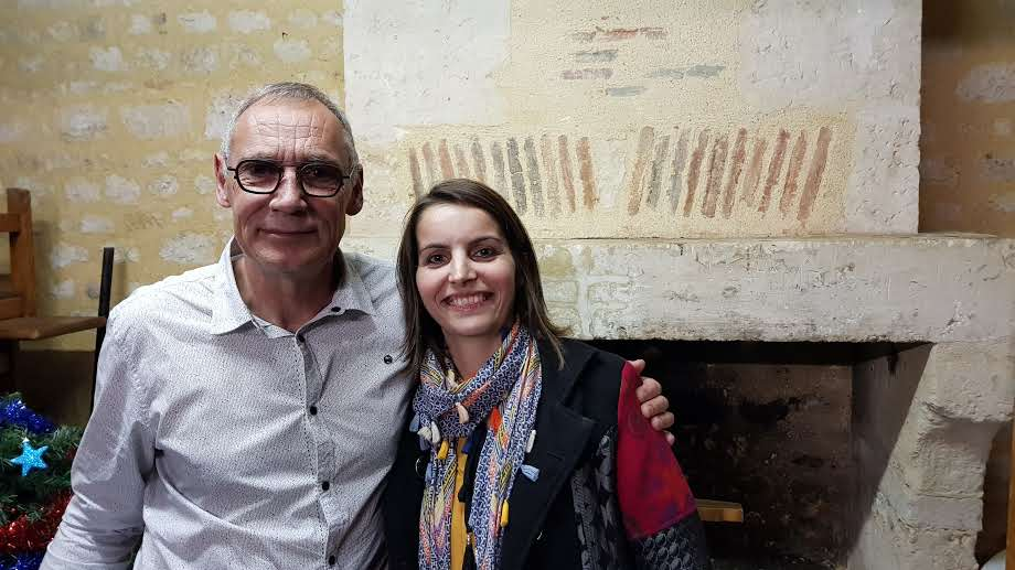 Gérard VERGNAUD et Lucie GANTIER à l'heure du départ