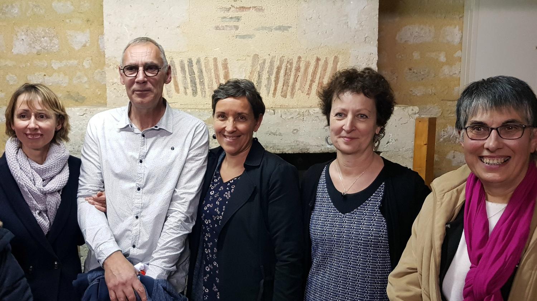 Hélène RELET, Myriam PAJOT et Line SABOURIN les ex collègues