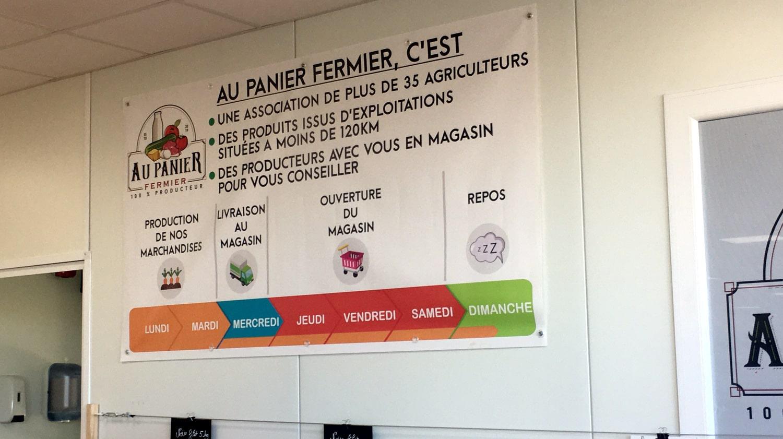 Une association, des produits de l'agriculture locale