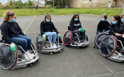 Les CAPa SAPVER pratiquent le rugby fauteuil
